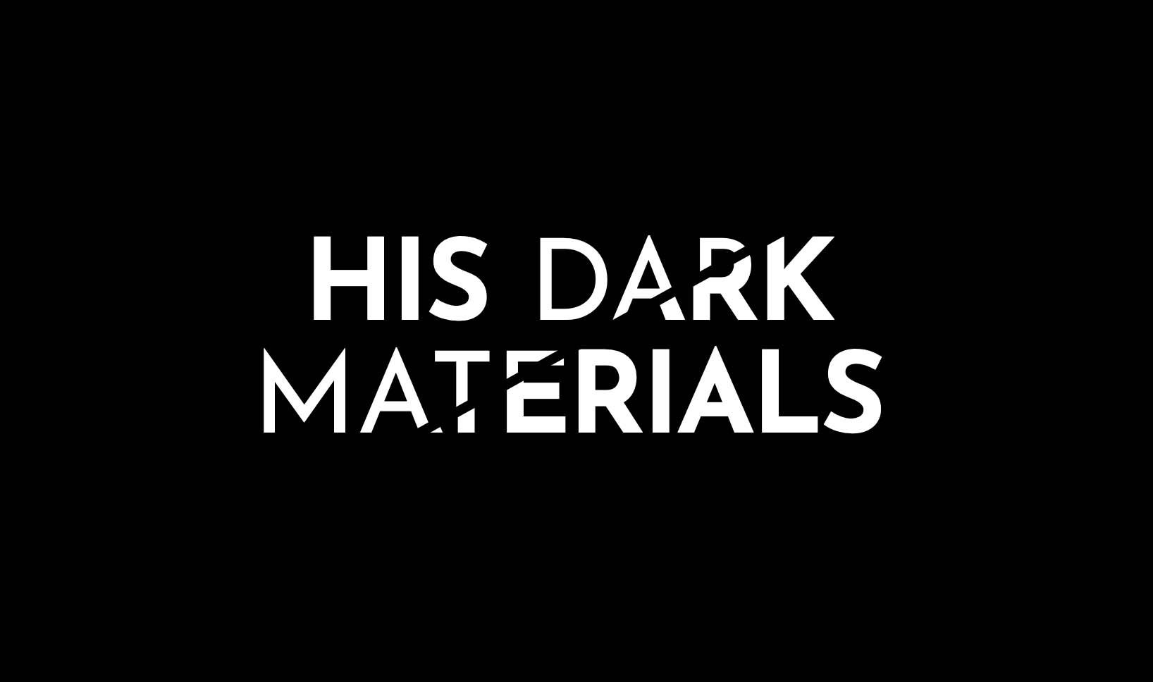 His Dark Materials logo as created in CSS